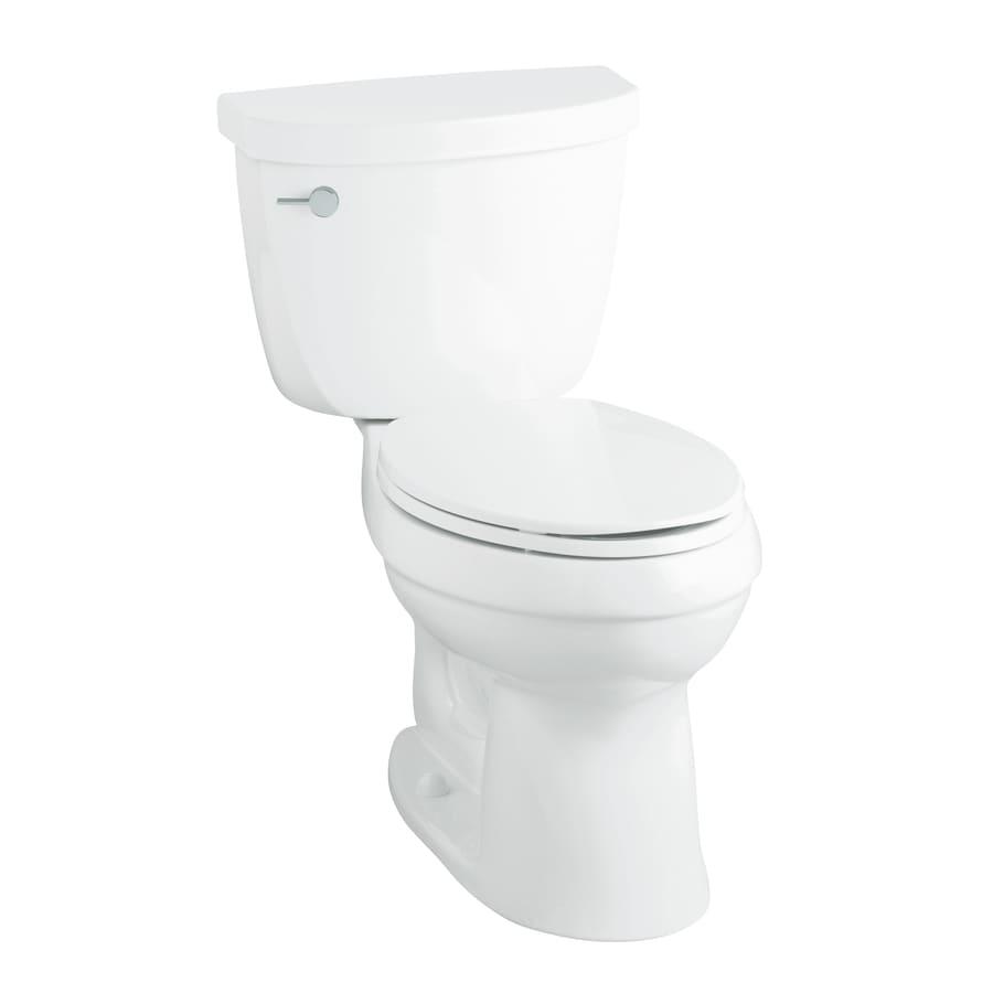 KOHLER Cimarron 1.28-GPF (4.85-LPF) White WaterSense Chair Height 2-Piece Toilet