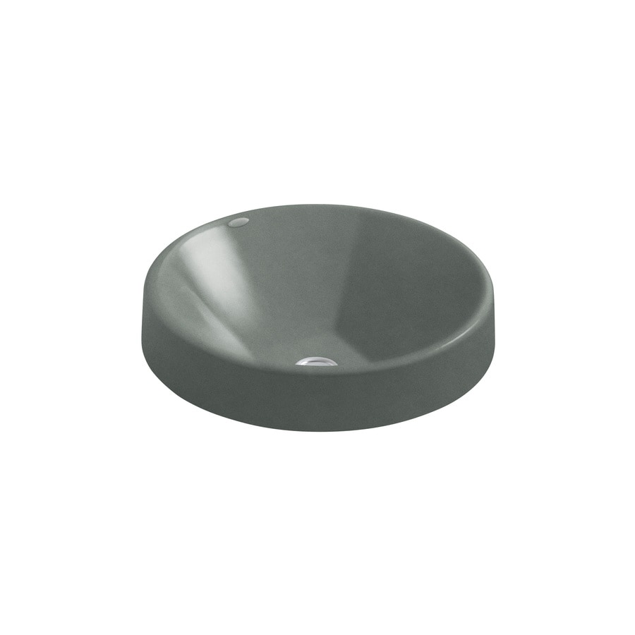 Shop Kohler Inscribe Basalt Cast Iron Vessel Round Bathroom Sink At
