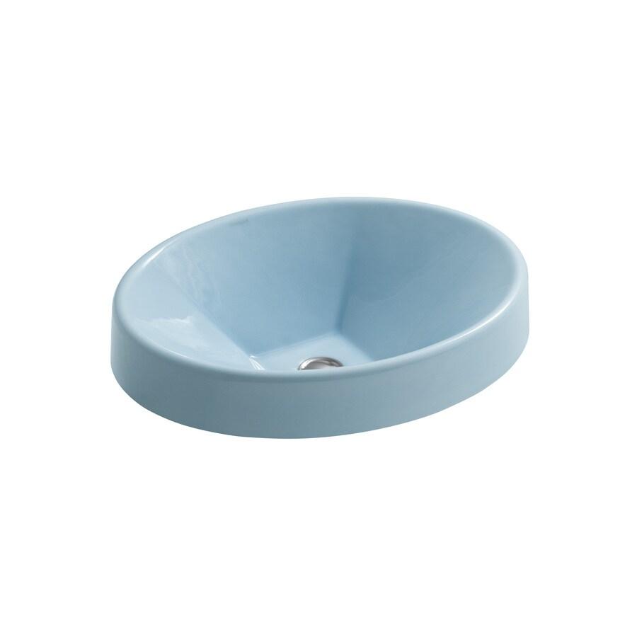 Shop KOHLER Vapour Blue Cast Iron Vessel Sink at Lowes.com