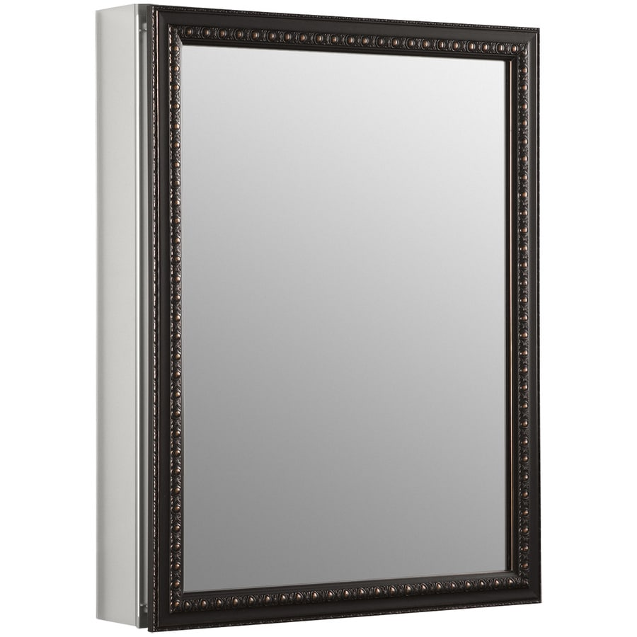 Bathroom medicine cabinets recessed - Kohler 20 In X 26 In Rectangle Surface Recessed Mirrored Aluminum Medicine Cabinet