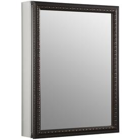 'KOHLER 20-in x 26-in Rectangle Surface/Recessed Mirrored Aluminum Medicine Cabinet' from the web at 'https://mobileimages.lowes.com/product/converted/650531/650531695277lg.jpg'
