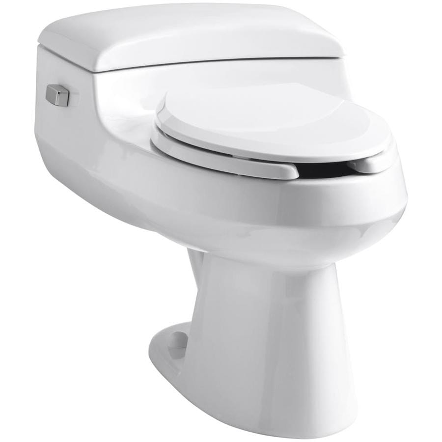 KOHLER San Raphael White 1.0-GPF (3.79-LPF) 12-in Rough-In WaterSense Elongated Pressure Assist 1-Piece Comfort Height Toilet