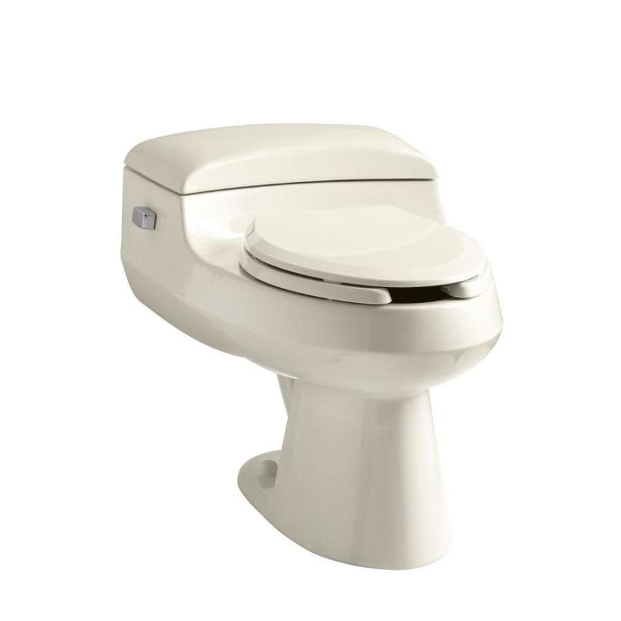 KOHLER San Raphael Almond WaterSense Labeled  Elongated Chair Height 1-piece Toilet 12-in Rough-In Size