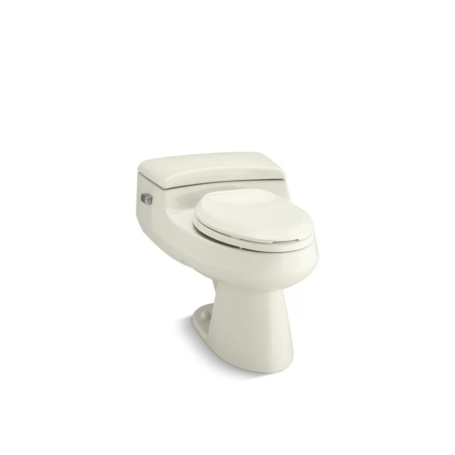 KOHLER San Raphael 1 Biscuit WaterSense Elongated Chair Height 1-Piece Toilet