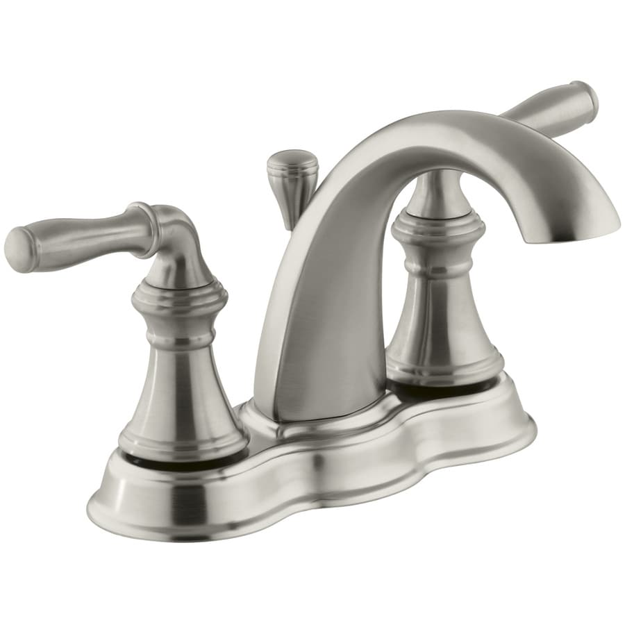 Shop Kohler Devonshire Vibrant Brushed Nickel 2 Handle 4 In Centerset Watersense Bathroom Faucet