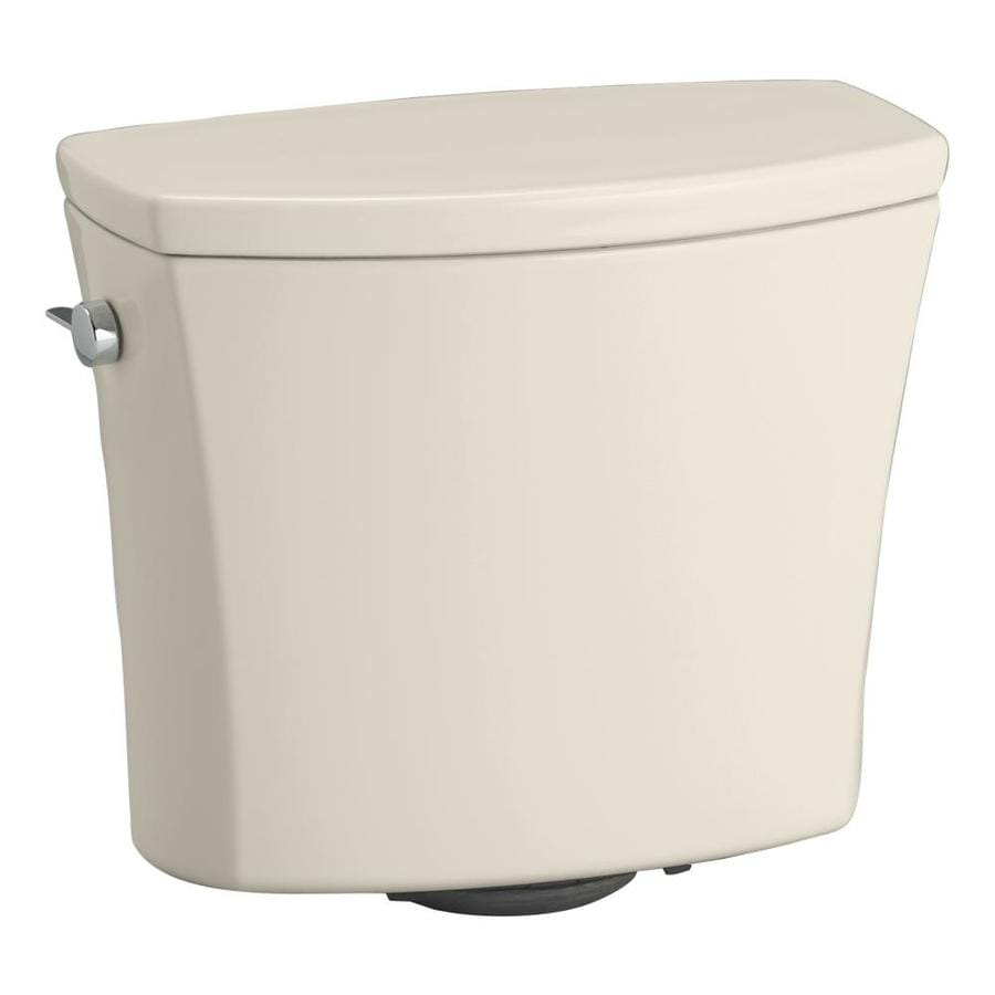 KOHLER Kelston Almond 1.28-GPF (4.85-LPF) 12-in Rough-in Single-Flush Toilet Tank