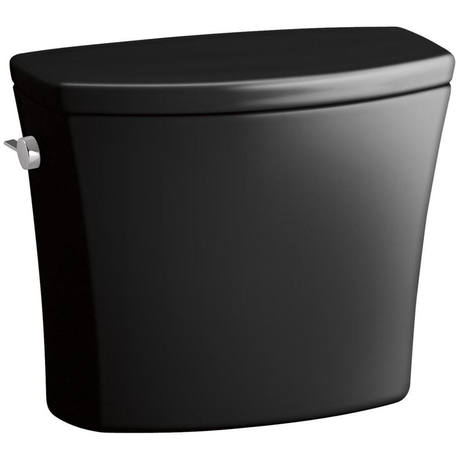 KOHLER Kelston Black Black 1.28-GPF (4.85-LPF) 12-in Rough-In Single-Flush High-Efficiency Toilet Tank