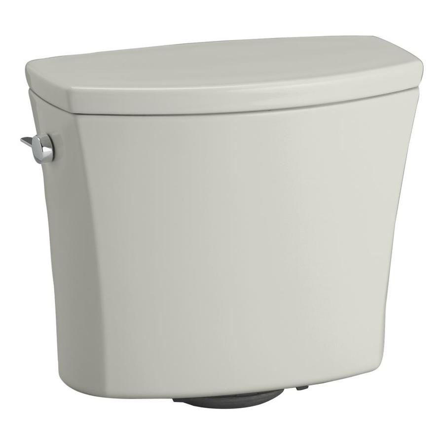 KOHLER Kelston Ice Grey 1.28-GPF (4.85-LPF) 12-in Rough-in Single-Flush Toilet Tank