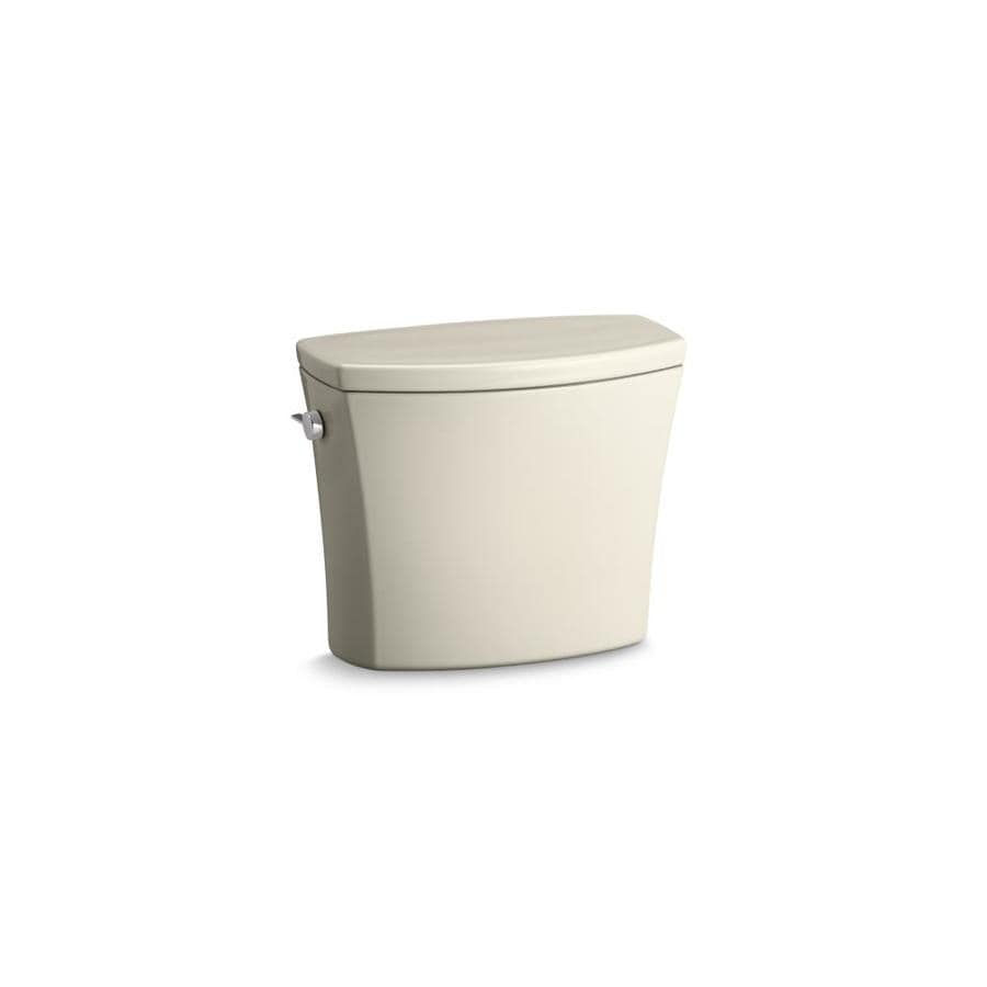 KOHLER Kelston Almond 1.6-GFP (6.06-LPF) 12-in Rough-in Single-Flush Toilet Tank
