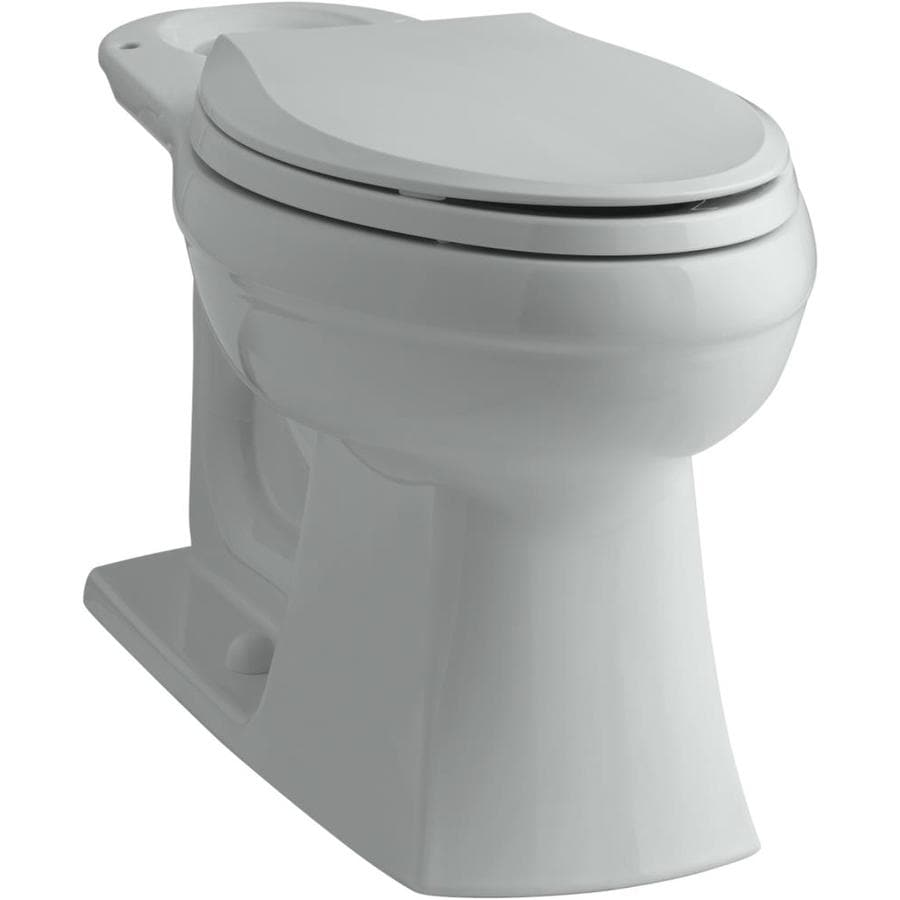 KOHLER Kelston Chair Height Ice Grey 12-in Rough-In Elongated Toilet Bowl