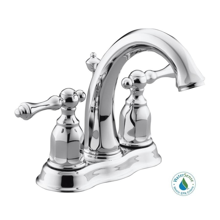 Kohler kelston polished chrome 2 handle widespread - Kohler two tone bathroom faucets ...