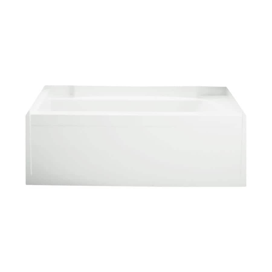Sterling Accord White Gelcoat/Fiberglass Rectangular Skirted Bathtub with Left-Hand Drain (Common: 32-in x 60-in; Actual: 21-in x 32-in x 60.25-in)