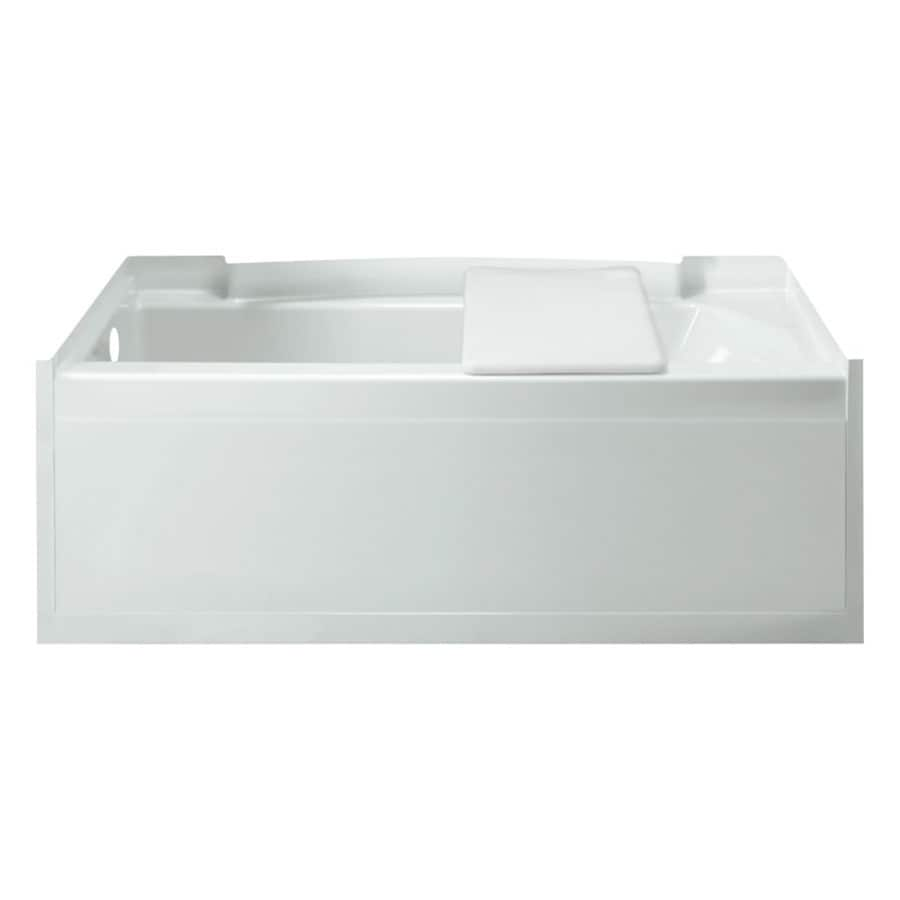 Sterling Accord White Fiberglass and Plastic Composite Rectangular Alcove Bathtub with Left-Hand Drain (Common: 32-in x 60-in; Actual: 15-in x 33.25-in x 60-in)