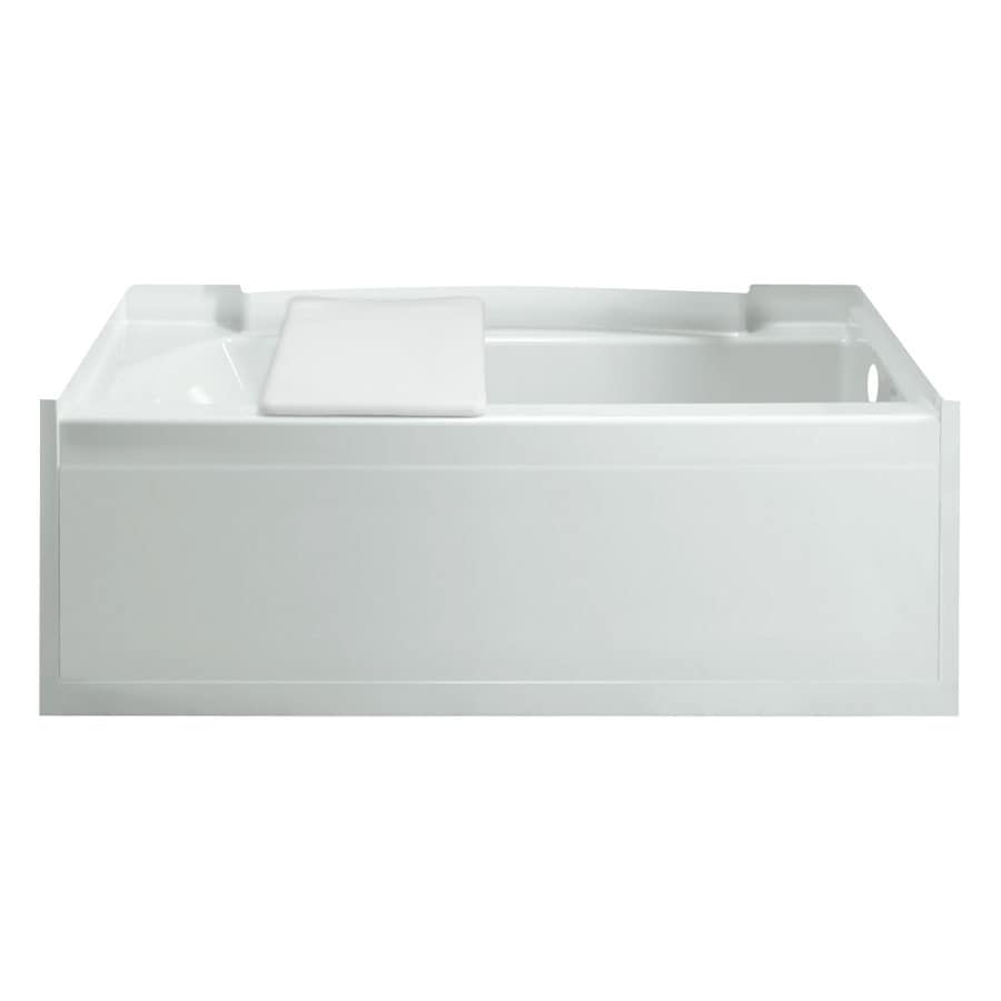 Sterling Accord White Vikrell Rectangular Alcove Bathtub with Right-Hand Drain (Common: 32-in x 60-in; Actual: 15-in x 32-in x 60.25-in)