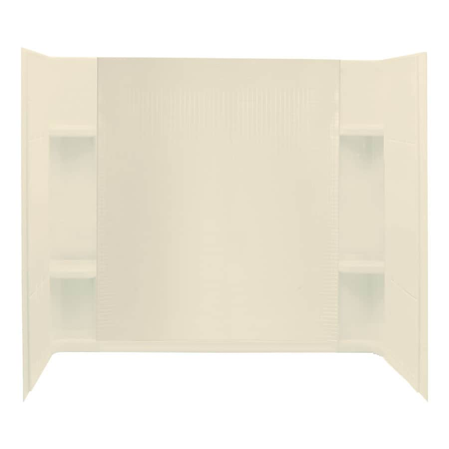Sterling Accord 60-in W x 32-in D x 55.25-in H Almond Fiberglass Bathtub Wall Surround
