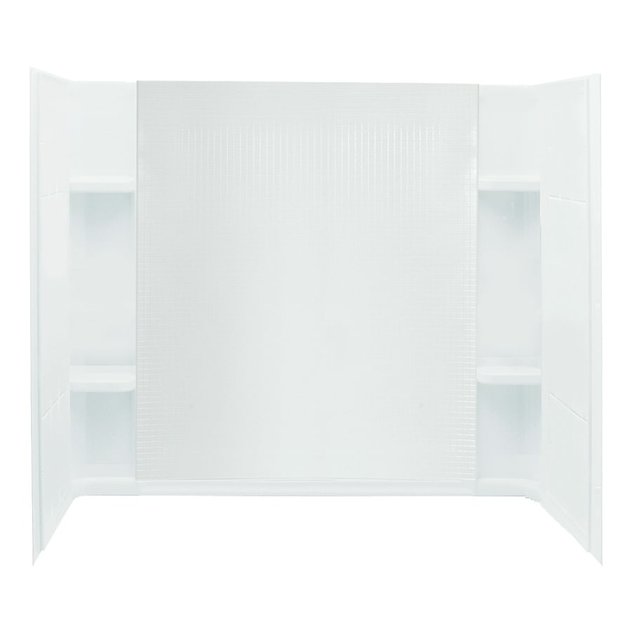 Sterling Accord White Vikrell Bathtub Wall Surround (Common: 60-in x 32-in; Actual: 55.25-in x 60-in x 32-in)