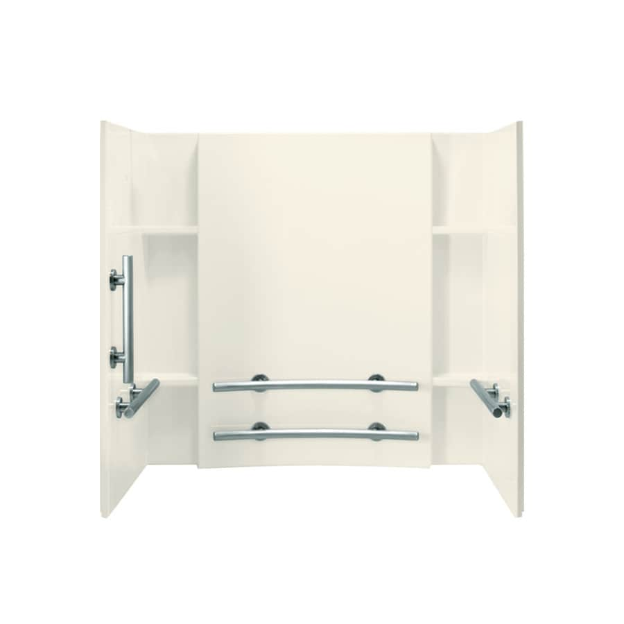 Sterling Accord Biscuit Vikrell Bathtub Wall Surround (Common: 60-in x 32-in; Actual: 55.25-in x 60-in x 32-in)
