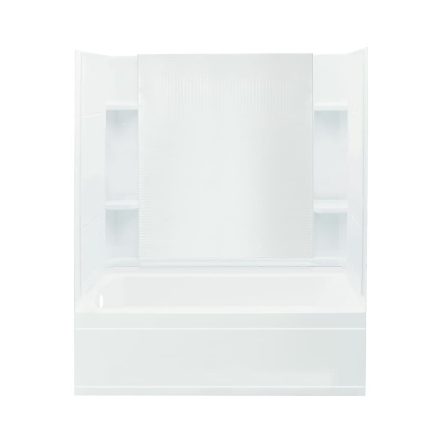 Sterling Accord 60.25-in White Vikrell Alcove Bathtub with Left-Hand Drain
