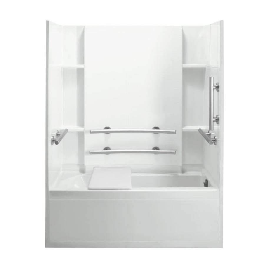 Shop Sterling Accord White 4-Piece Alcove Shower Kit (Common: 32-in ...