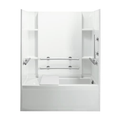 Sterling Accord White 4 Piece Bathtub Shower Kit Common