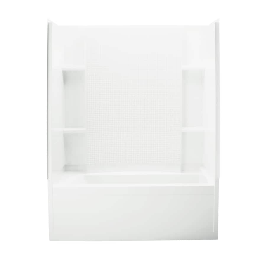 Sterling Alcove 60.25-in White Vikrell Alcove Bathtub with Right-Hand Drain