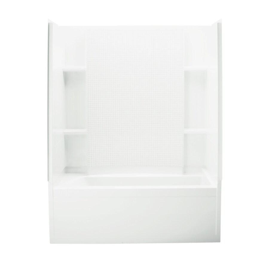 Sterling Skirted White Vikrell Rectangular Bathtub with Right-Hand Drain (Common: 32-in x 60-in; Actual: 74-in x 32-in x 60.25-in)