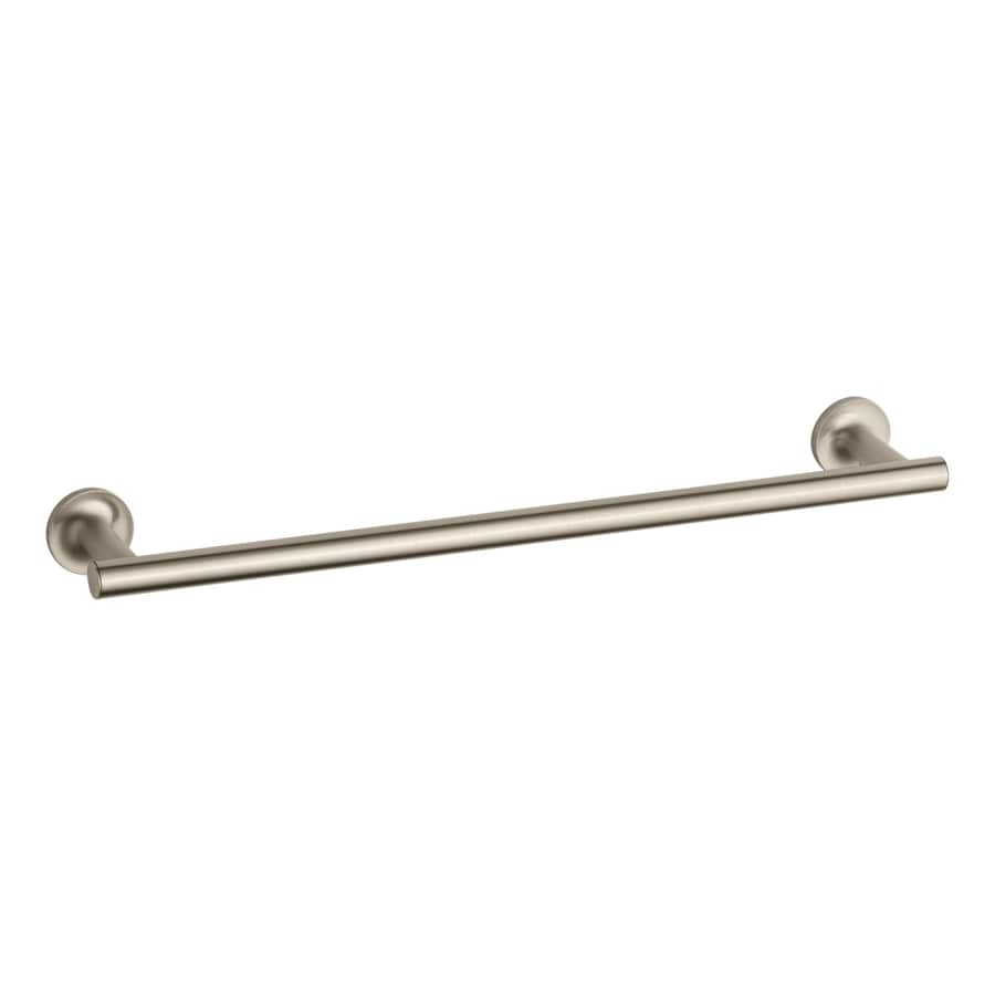 KOHLER Purist Vibrant Brushed Bronze Single Towel Bar (Common: 18-in; Actual: 19.6875-in)