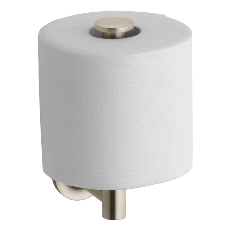 KOHLER Purist Vibrant Brushed Bronze Surface Mount Single Post with Arm Toilet Paper Holder