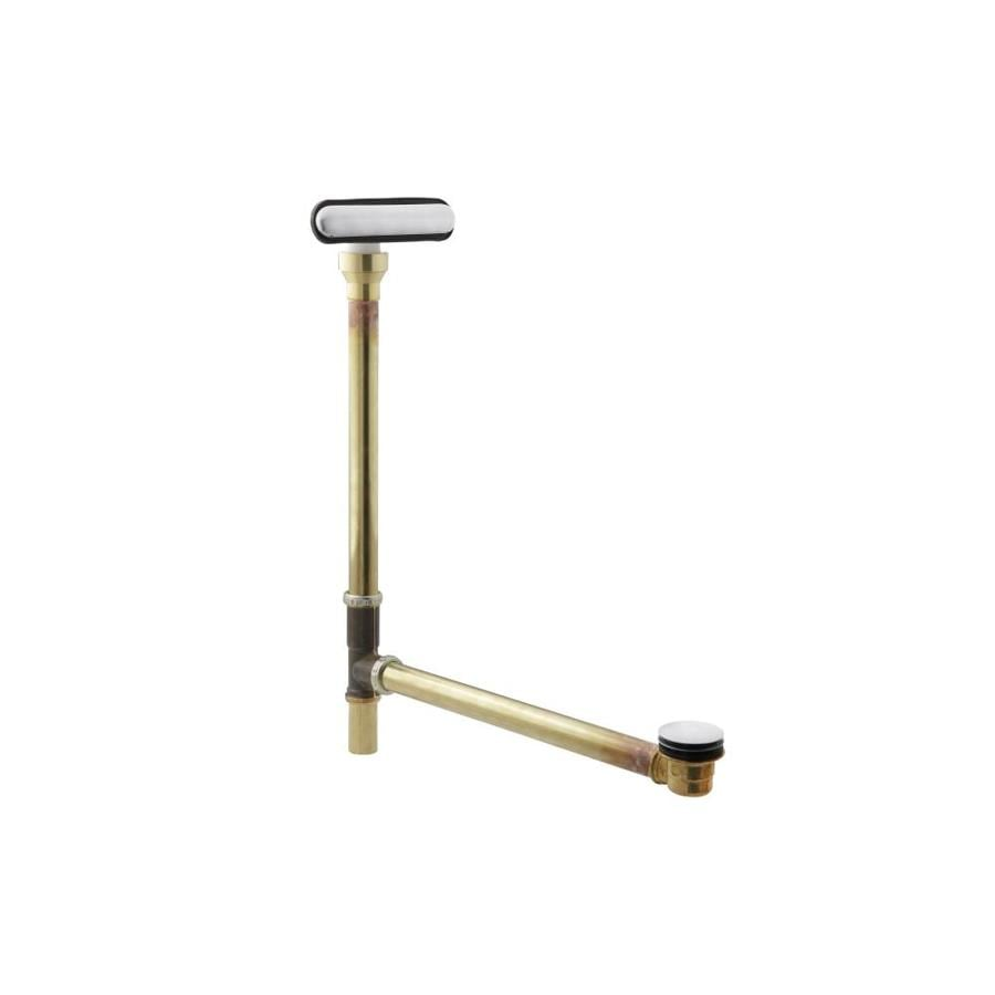 KOHLER 1-1/2-in Brushed Chrome Foot Lock Brass Pipe
