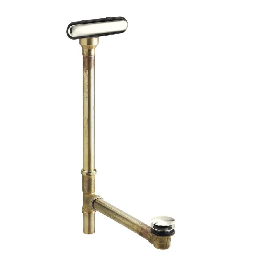 KOHLER 1-1/2-in Vibrant Polished Nickel Foot Lock with Brass Pipe