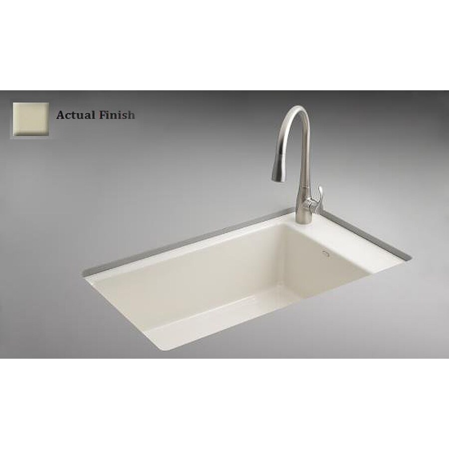Attrayant KOHLER Indio Single Basin Undermount Enameled Cast Iron Kitchen Sink