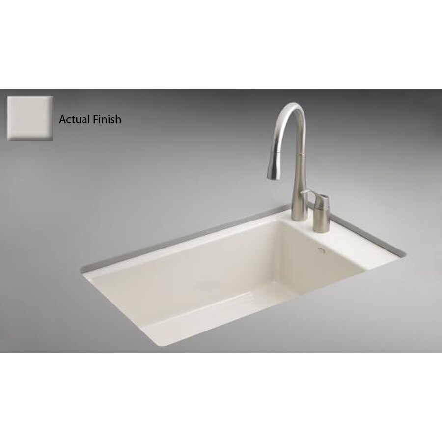 superior Enameled Cast Iron Undermount Kitchen Sink Part - 13: KOHLER Indio Single-Basin Undermount Enameled Cast Iron Kitchen Sink