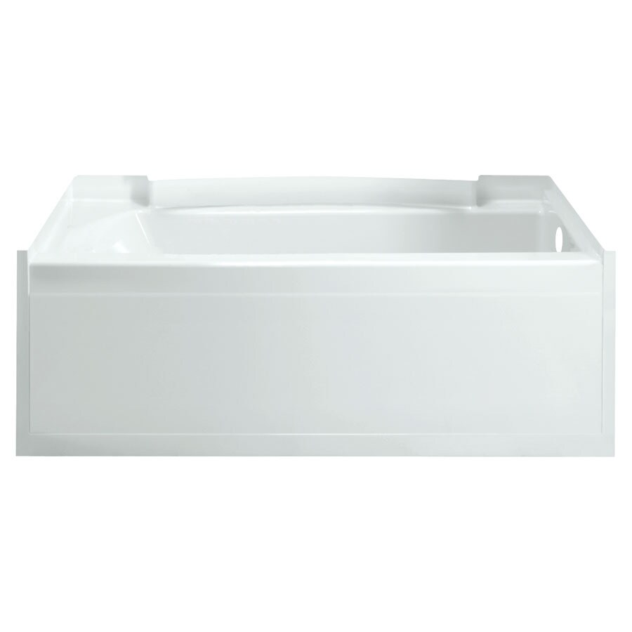 Sterling Accord White Vikrell Rectangular Alcove Bathtub with Right-Hand Drain (Common: 36-in x 60-in; Actual: 23-in x 36-in x 60-in)