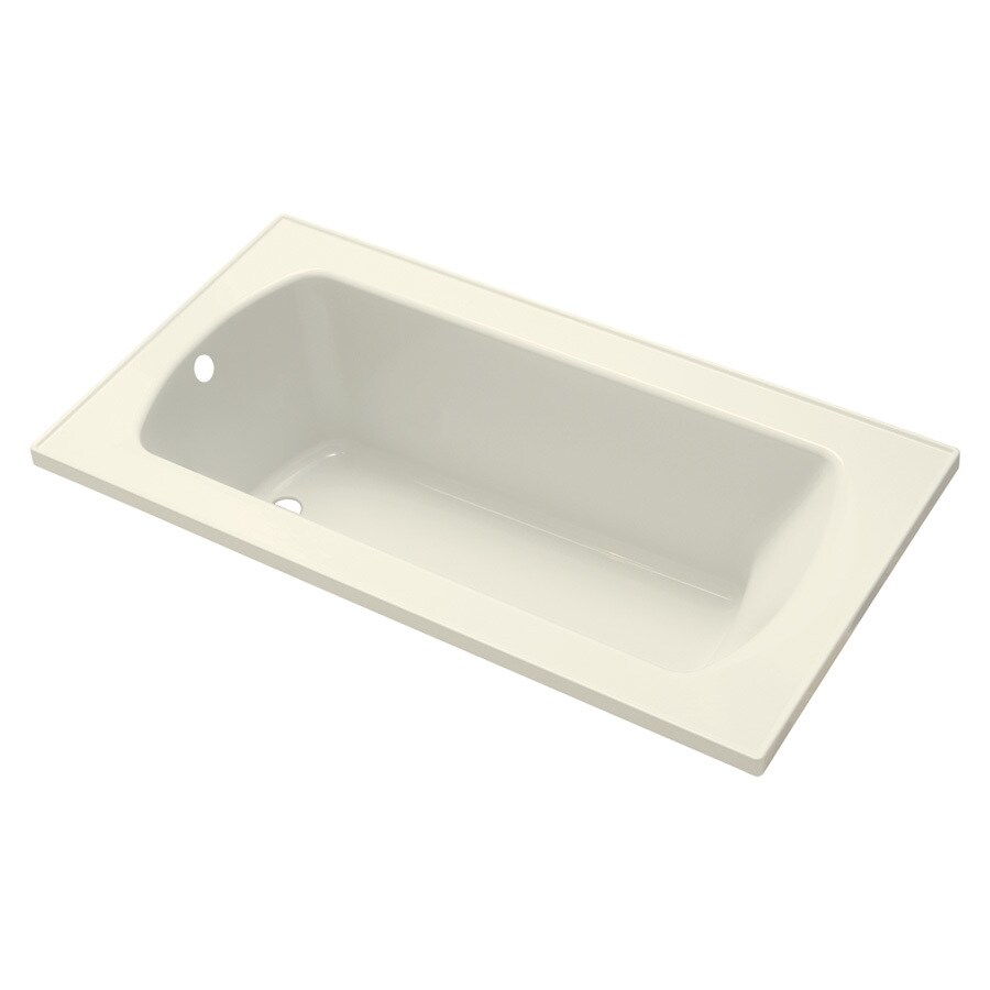 Sterling Lawson 60-in Biscuit Vikrell Drop-In Bathtub with Reversible Drain