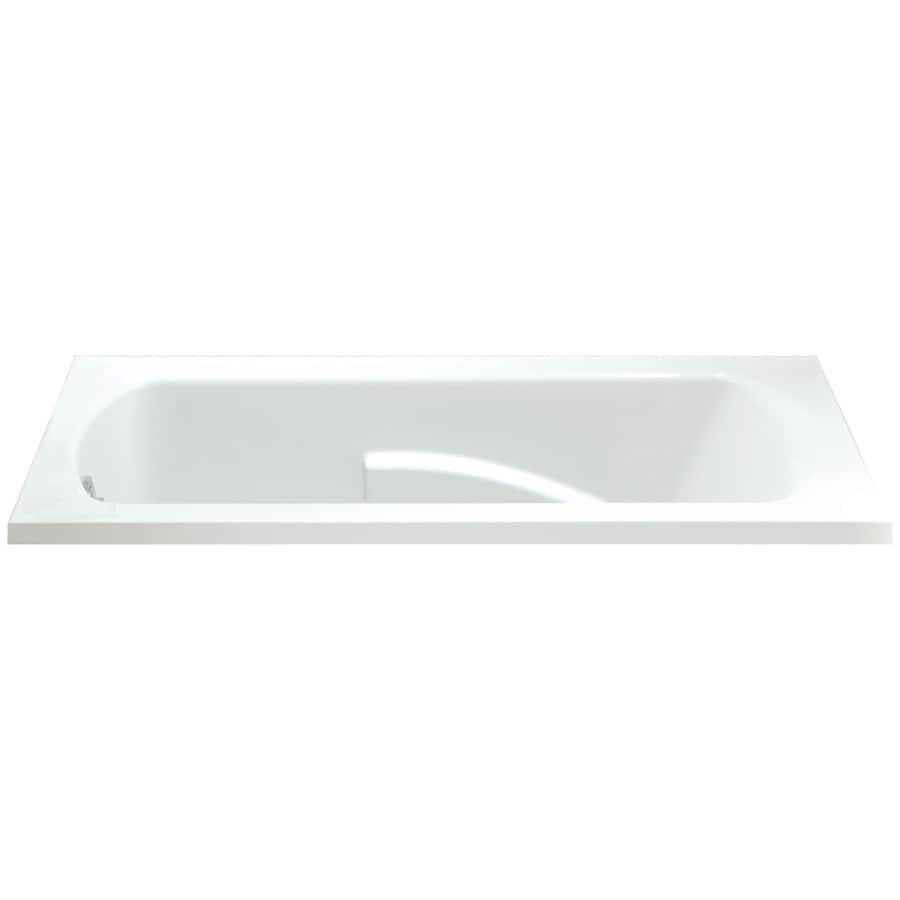 Sterling Lawson White Vikrell Rectangular Drop-In Bathtub with Reversible Drain (Common: 36-in x 60-in; Actual: 20.3125-in x 36-in x 60-in)