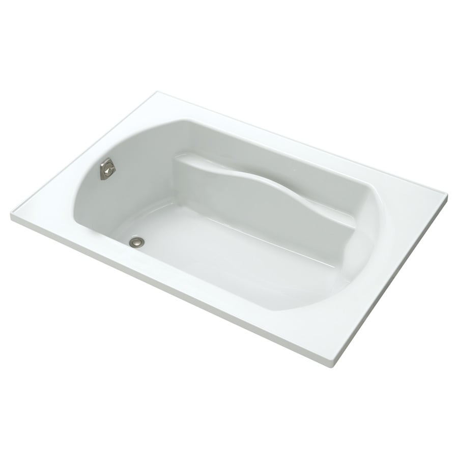 Sterling Lawson White Vikrell Rectangular Drop-in Bathtub with Reversible Drain (Common: 60-in x 42-in; Actual: 20.3125-in x 60-in x 42-in