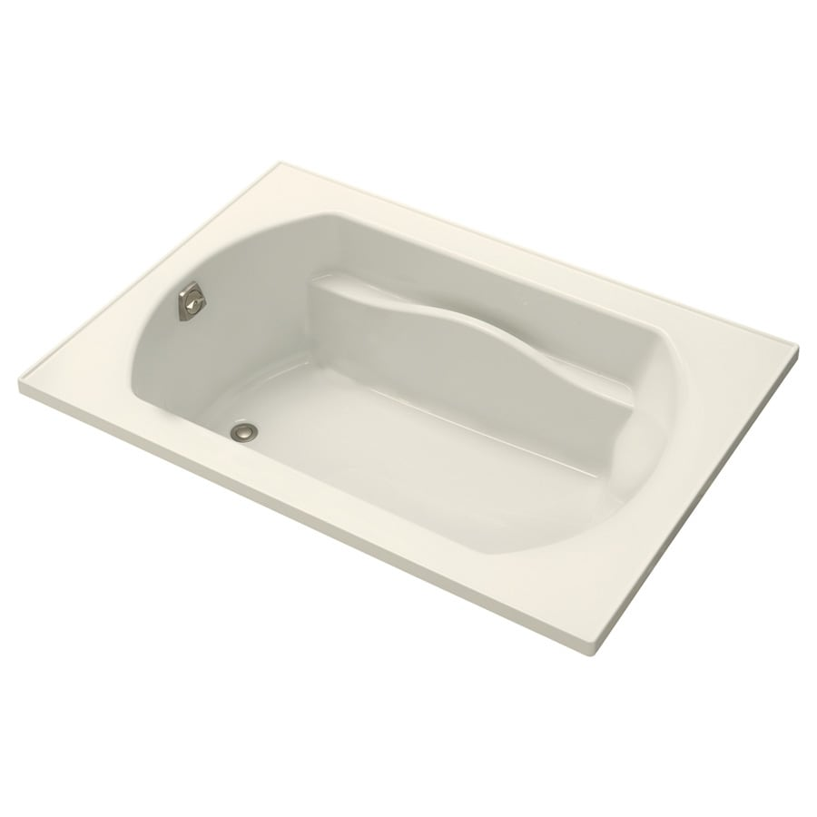 Sterling Lawson Biscuit Vikrell Rectangular Drop-In Bathtub with Reversible Drain (Common: 42-in x 60-in; Actual: 20.3125-in x 42-in x 60-in)
