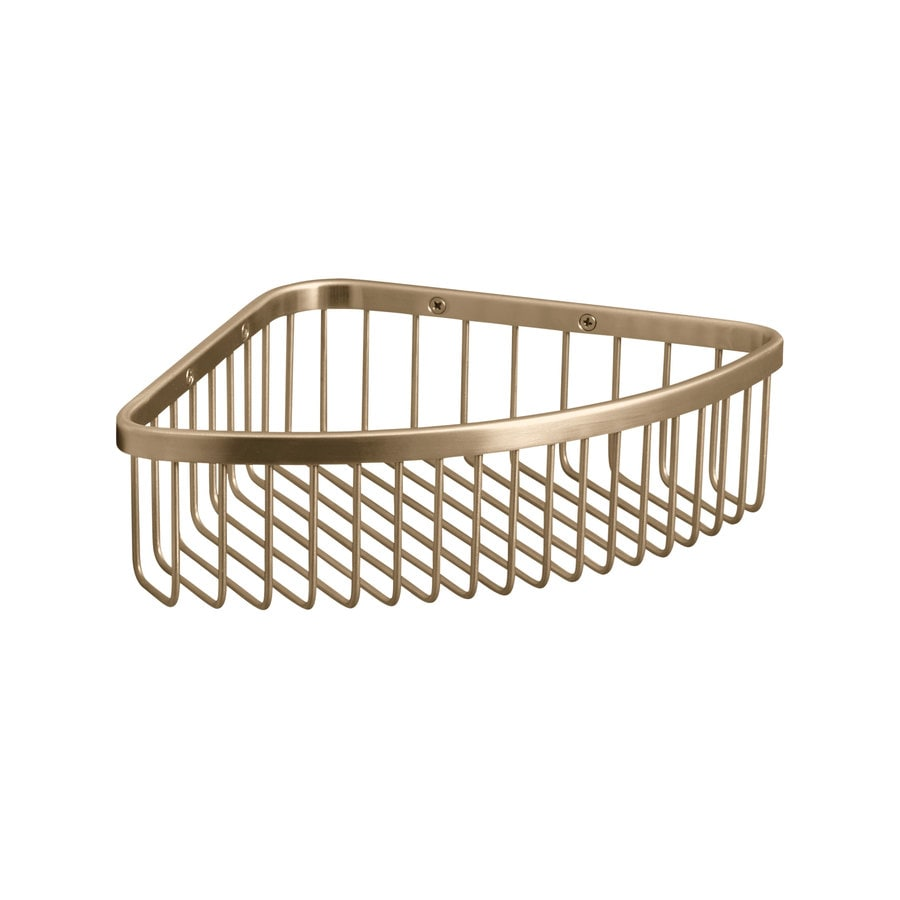 KOHLER 3-in H Screw Mount Stainless Steel Vibrant Brushed Bronze Hanging Shower Caddy
