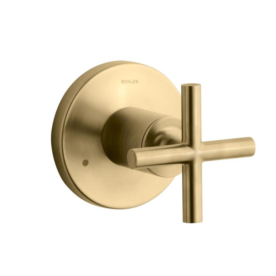Kohler Vibrant Moderne Brushed Gold Cross Shower Handle At