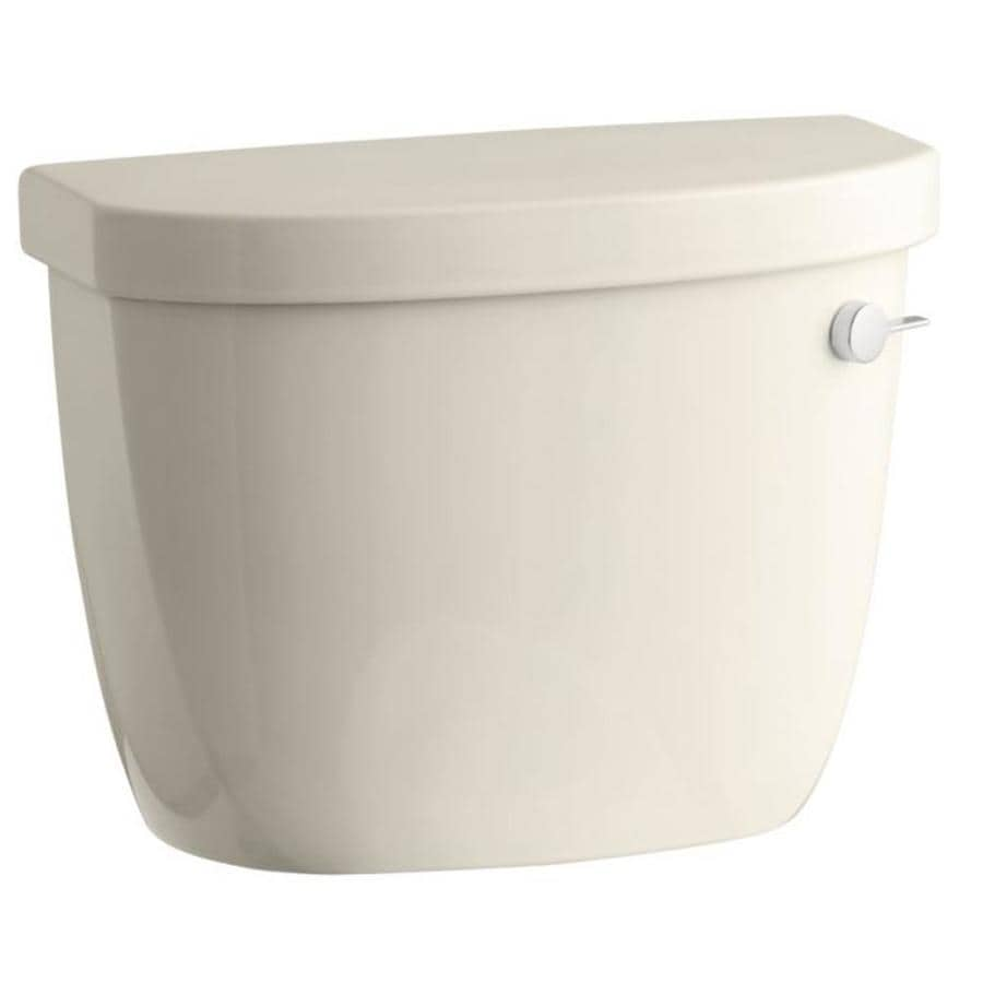 KOHLER Cimarron Almond 1.6-GPF Single-Flush High-Efficiency Toilet Tank