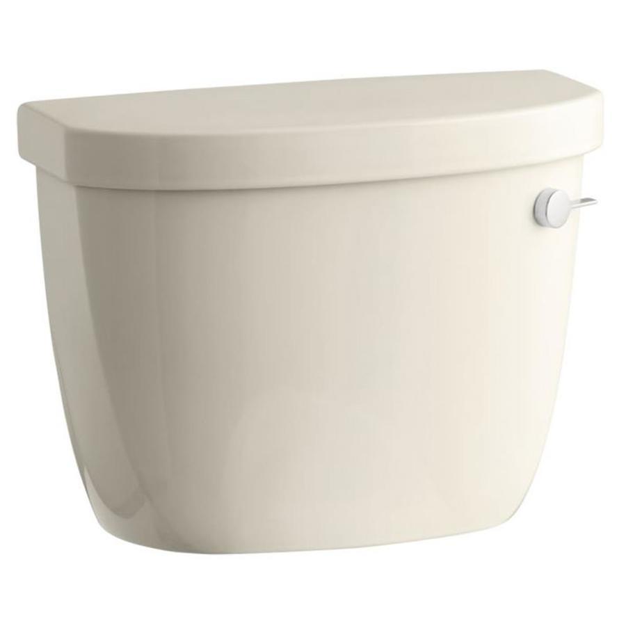 KOHLER Cimarron Almond 1.28-GPF (4.85-LPF) 12 Rough-In Single-Flush High-Efficiency Toilet Tank