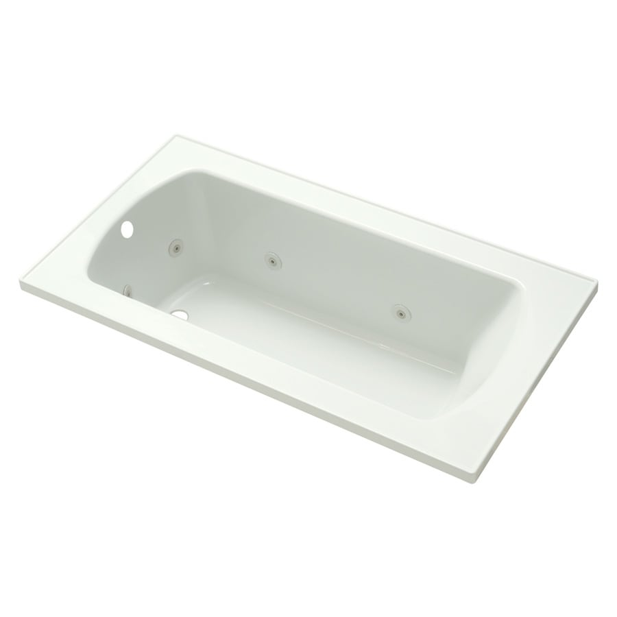 Sterling Lawson White Vikrell Rectangular Whirlpool Tub (Common: 60-in x 32-in; Actual: 20.3125-in x 60-in x 32-in)