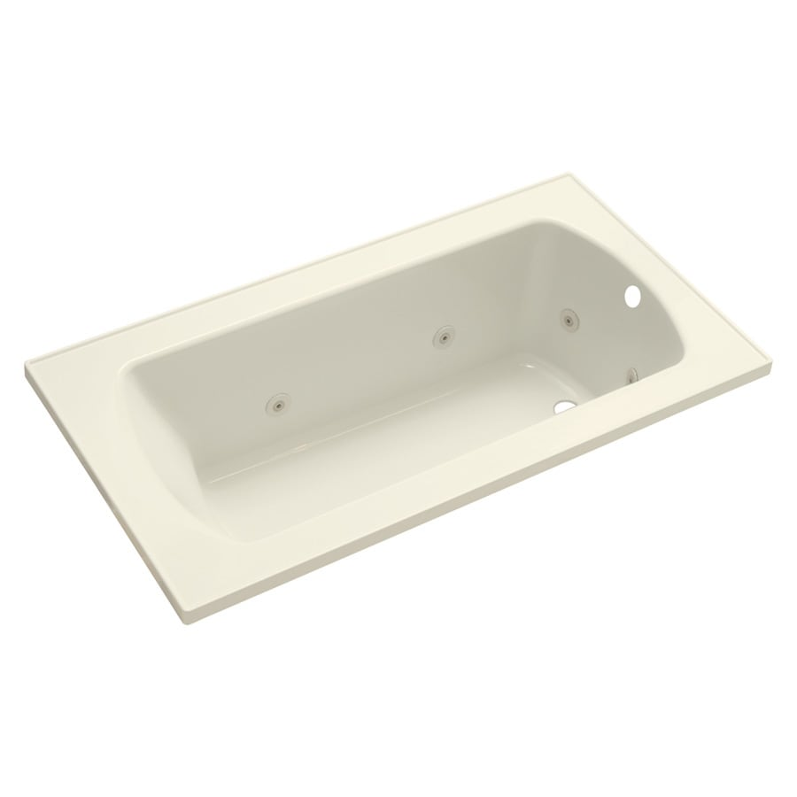 Sterling Lawson 1-Person Biscuit Vikrell Rectangular Whirlpool Tub (Common: 60-in x 32-in; Actual: 20.3125-in x 60-in x 32-in)