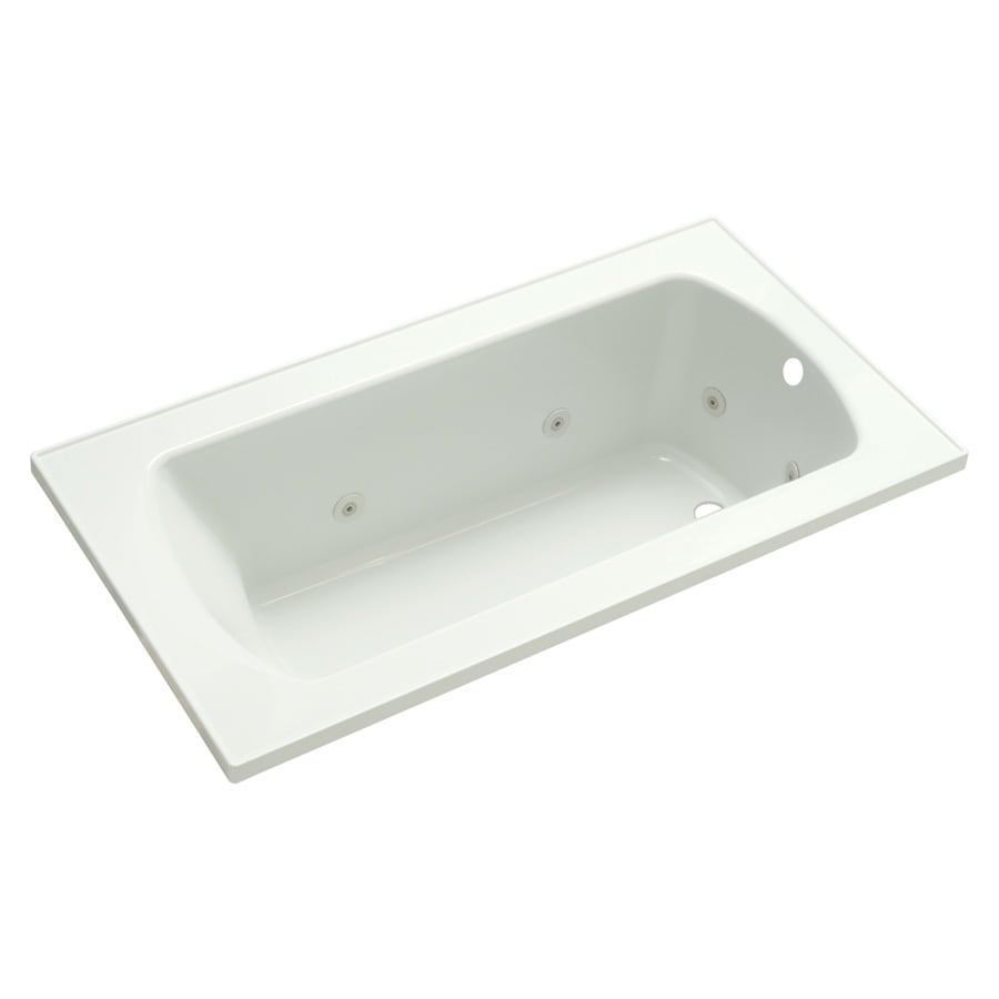 Sterling Lawson 32-in White Vikrell Drop-In Whirlpool Tub with Right-Hand Drain