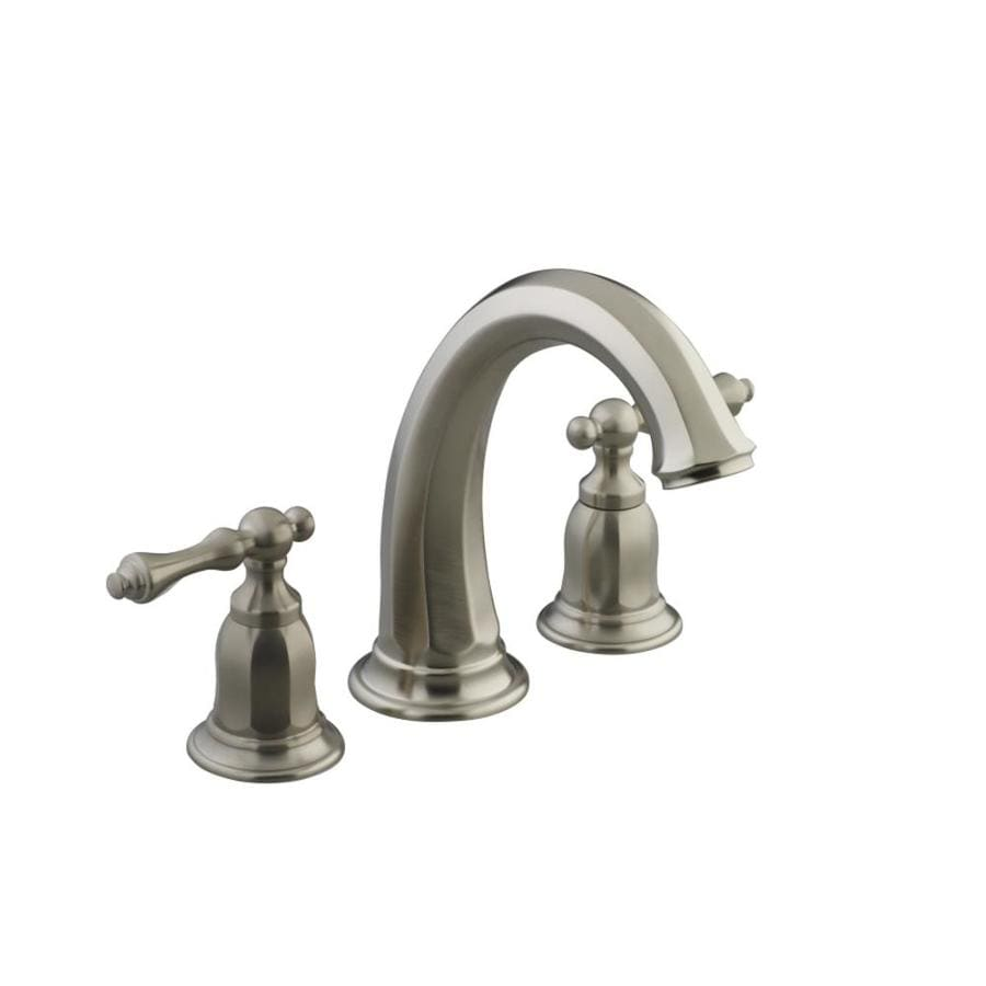 KOHLER Kelston Vibrant Brushed Nickel 2-Handle Deck Mount Bathtub Faucet