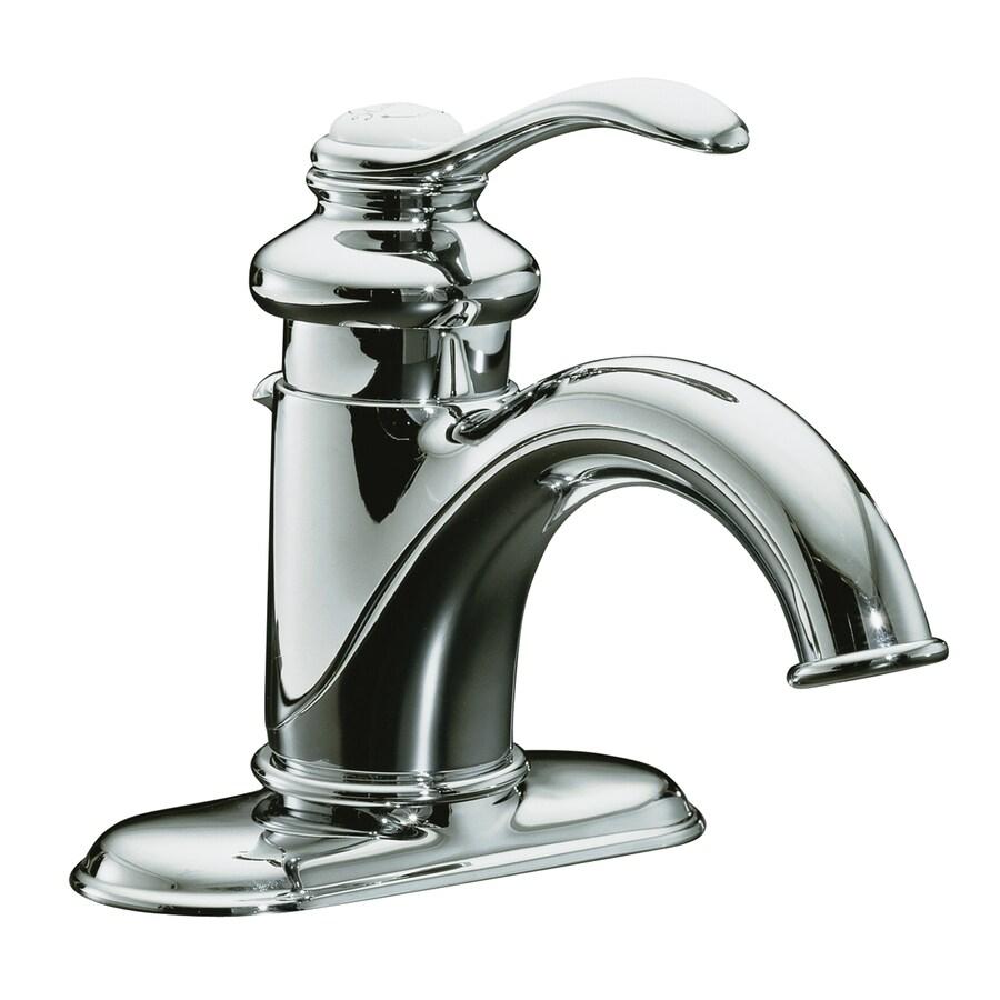 KOHLER Fairfax Polished Chrome 1 Handle Single Hole WaterSense Bathroom  Faucet (Drain Included)