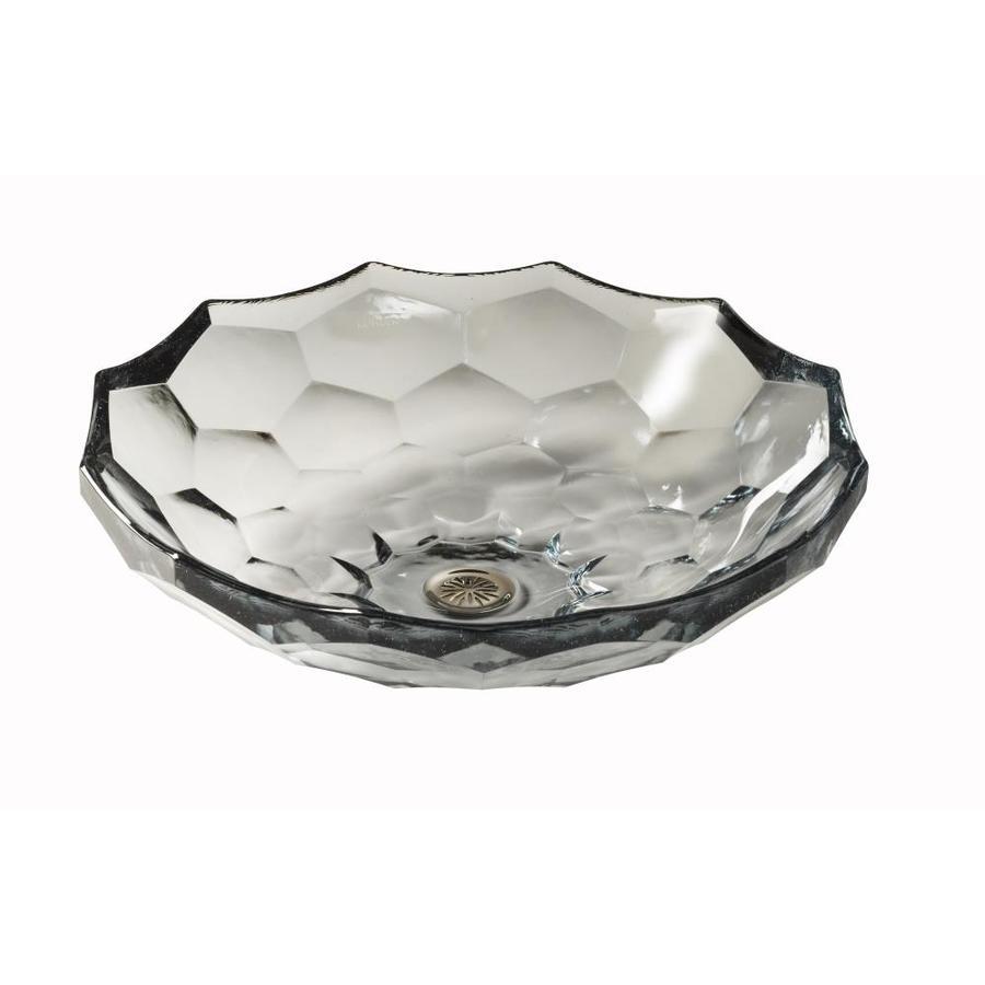 KOHLER Artist Edition Briolette Ice Glass Vessel Round Bathroom Sink