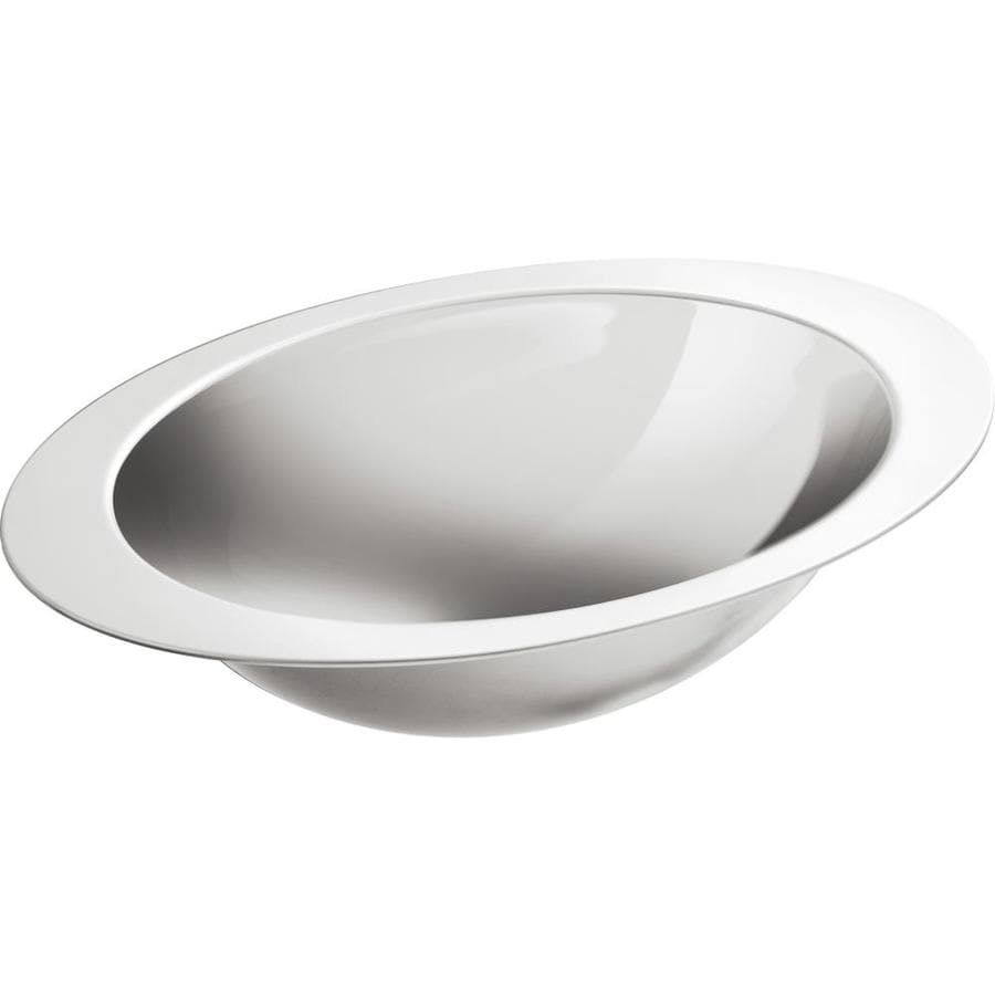 KOHLER Rhythm Stainless Steel Undermount Elliptical Bathroom Sink