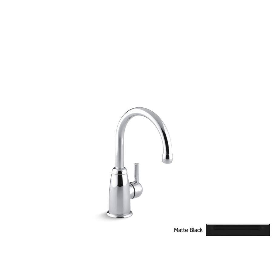 KOHLER Wellspring Matte Black 1-Handle Bar and Prep Faucet
