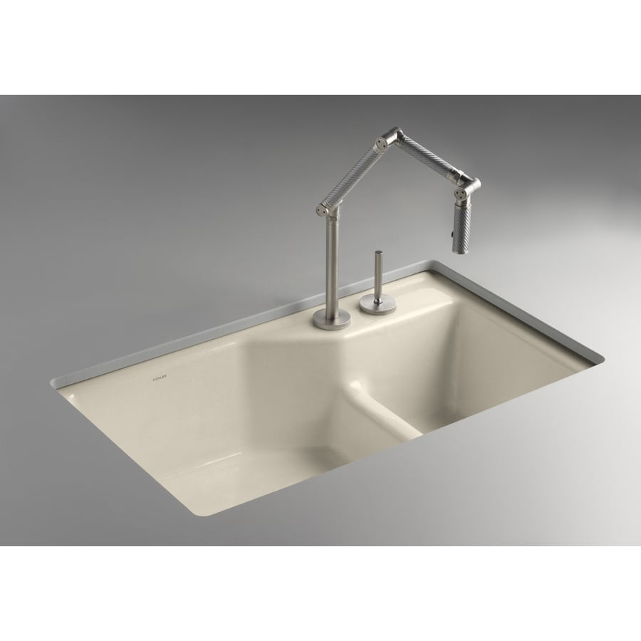 cast iron kitchen sinks undermount shop kohler indio basin undermount enameled cast 8066
